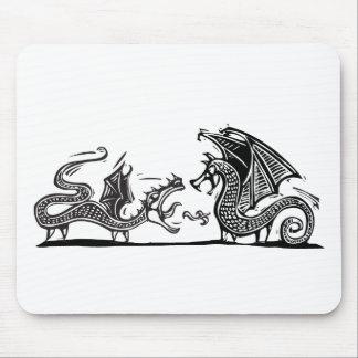 2つのドラゴン マウスパッド