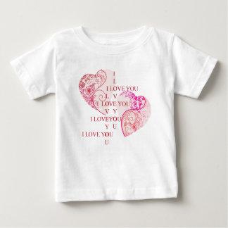 2つのハート- I愛 ベビーTシャツ
