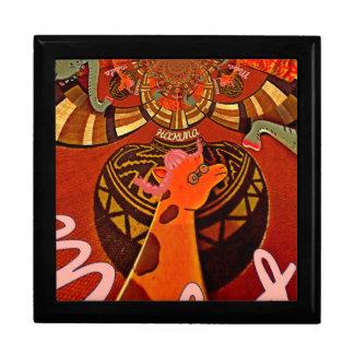 2つのポニーテールの芸術のキリン ギフトボックス