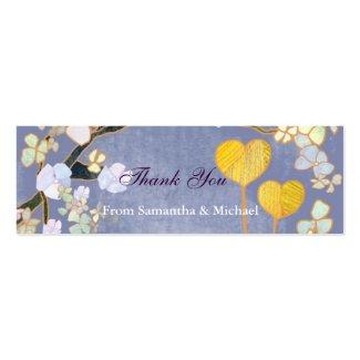 2つの中心: 結婚式のありがとうのギフトの札 profilecard