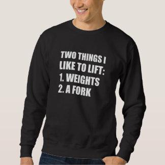 2つの事の上昇の重量のフォーク スウェットシャツ