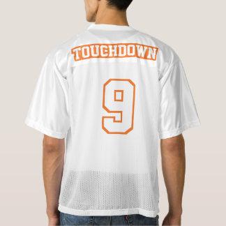 2つの側面のオレンジ白いメンズフットボールジャージー メンズフットボールジャージー