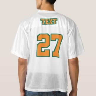 2つの側面のオレンジ緑の白いメンズフットボールジャージー メンズフットボールジャージー