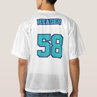 2つの側面のターコイズの濃紺白いメンズスポーツジャージー メンズフットボールジャージー