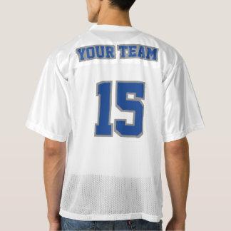 2つの側面のブルーグレー白いメンズフットボールジャージー メンズフットボールジャージー