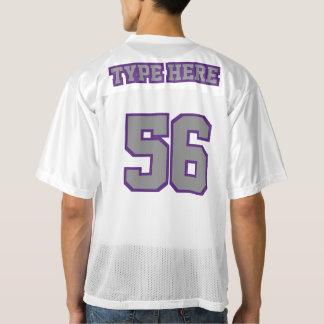 2つの側面の灰色の紫色の白いメンズはジャージーを遊ばします メンズフットボールジャージー