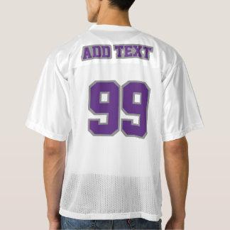 2つの側面の紫色の灰色白メンズはジャージーを遊ばします メンズフットボールジャージー