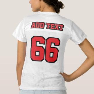 2つの側面の赤い白黒レディースフットボールジャージー レディースフットボールジャージー