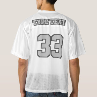 2つの側面の銀製の灰色白メンズフットボールジャージー メンズフットボールジャージー