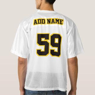 2つの側面の黒い金黄色く白いメンズスポーツジャージー メンズフットボールジャージー