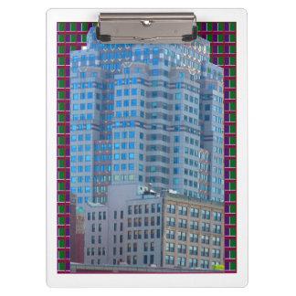 2つの側面は用箋挟のボストンアクリルの眺めを印刷しました