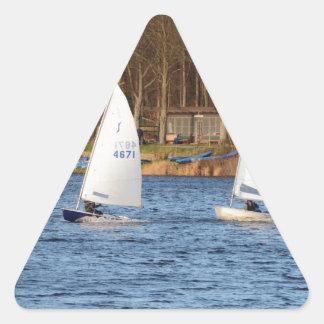 2つの単独の航行のディンギー 三角形シール