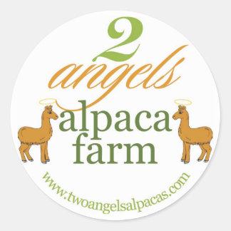 2つの天使のアルパカの農場 ラウンドシール