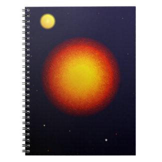 2つの太陽のノート ノートブック