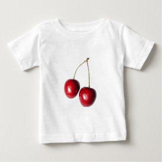 2つの実質のさくらんぼ ベビーTシャツ