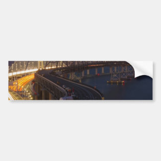 2つの橋サンフランシスコオークランド湾橋 バンパーステッカー