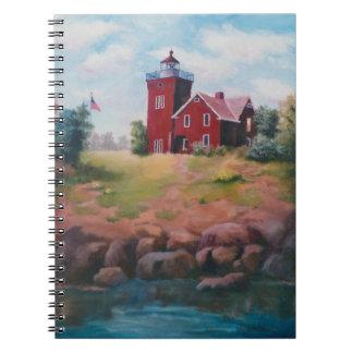 2つの港の灯台ノート ノートブック