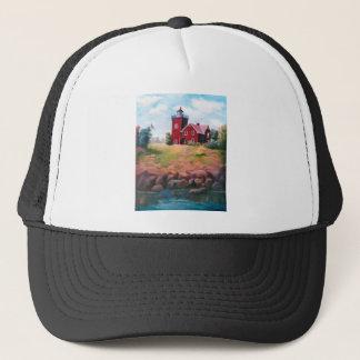 2つの港の灯台帽子 キャップ