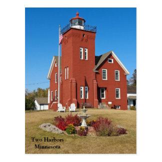 2つの港Lighthouse.jpg ポストカード