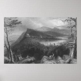 2つの湖および山の家 ポスター