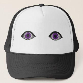 2つの紫色の目 キャップ