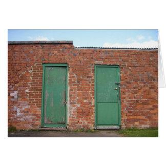 2つの緑のドア カード