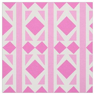 2つの調子のピンクのダイヤモンドの生地 ファブリック