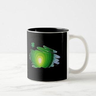 2つの調子のマグの常緑樹のシャムロック ツートーンマグカップ