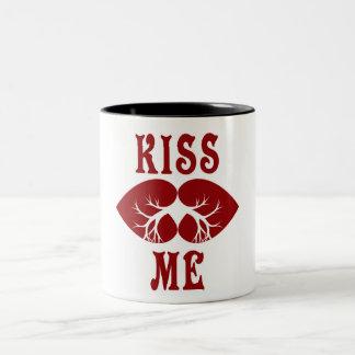 2つの調子のマグは私に接吻します ツートーンマグカップ