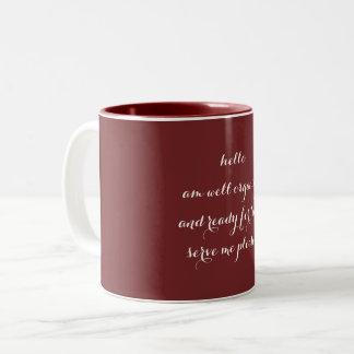 2つの調子のマグ ツートーンマグカップ