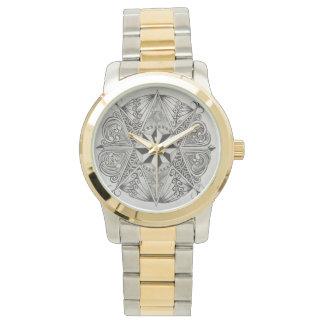 2つの調子の腕時計の黒く及び白いZENDALA 腕時計