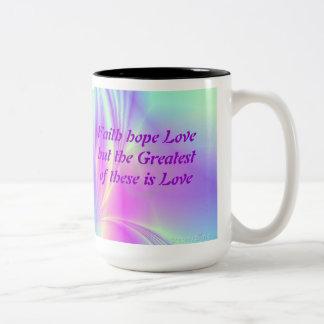 2つの調子の虹の信頼のマグ ツートーンマグカップ