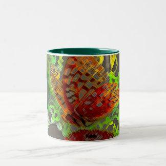 2つの調子の蝶マグ ツートーンマグカップ