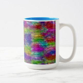 2つの調子の鮮やかな色 ツートーンマグカップ