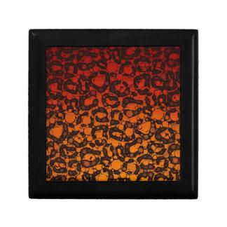 2つの調子の黒く赤いチータ ギフトボックス