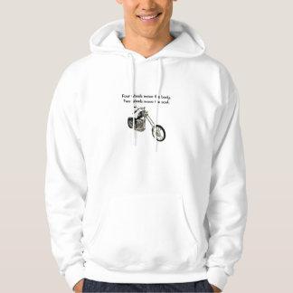 2つの車輪は精神のフード付きスウェットシャツを動かします パーカ
