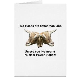 2つの頭部の反核のロゴ カード