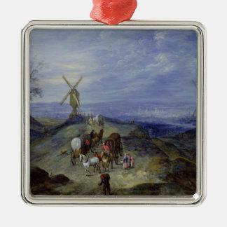 2つの風車との景色、1612年 メタルオーナメント