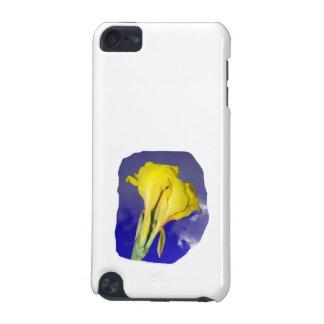 2つの黄色い花の濃紺の空の写真 iPod TOUCH 5G ケース