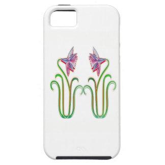 2つの100個のギフトのかわいい花の絵の芸術 iPhone SE/5/5s ケース