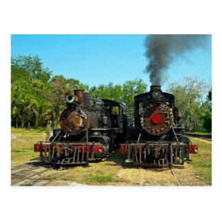 2つのBaldwinの蒸気機関車 ポストカード