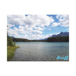 2つのJake湖、Banff、カナダ キャンバスプリント