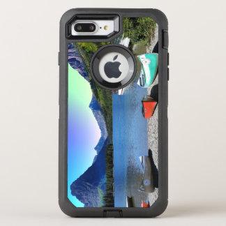 2つのmedicine湖のグレーシャー国立公園モンタナ オッターボックスディフェンダーiPhone 8 plus/7 plusケース