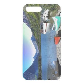 2つのmedicine湖のグレーシャー国立公園モンタナ iPhone 8 plus/7 plus ケース