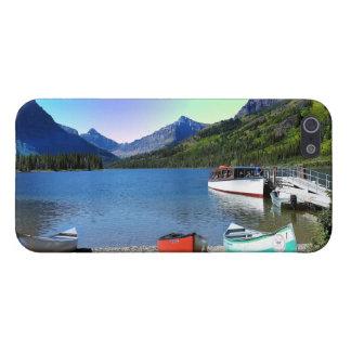 2つのmedicine湖のグレーシャー国立公園モンタナ iPhone SE/5/5sケース