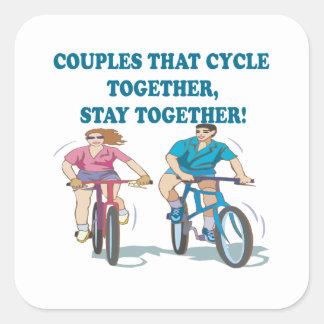 2つを一緒に循環させるカップル スクエアシール