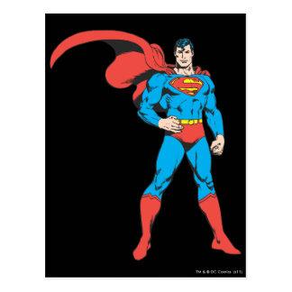 2つを提起しているスーパーマン ポストカード