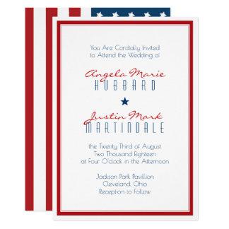 2つを結婚する米国の愛国心が強い旗 カード