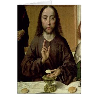2つを賛美しているキリスト カード