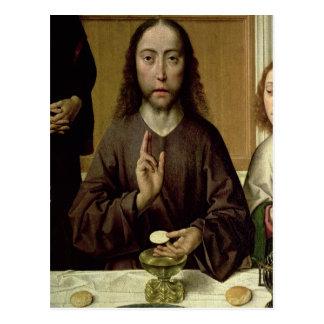 2つを賛美しているキリスト ポストカード